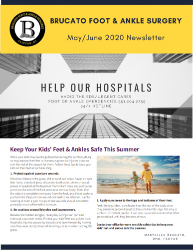 Brucato Foot & Ankle Newsletter - May/June 2020